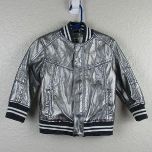OshKosh Genuine Kids 2T Metallic Silver Jacket